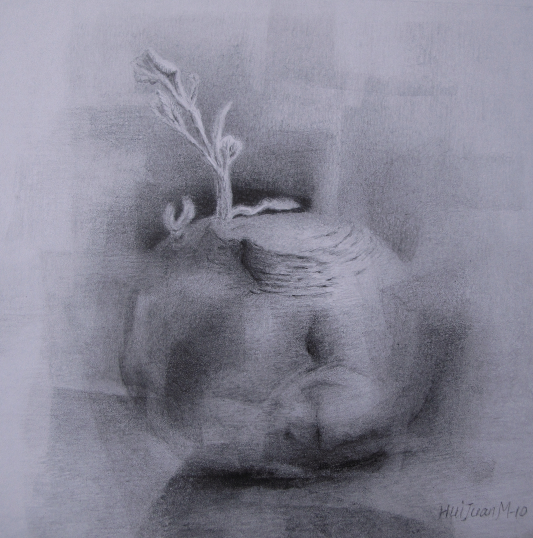 1,Back to the Root 30x30 Pencil Drawing 2010