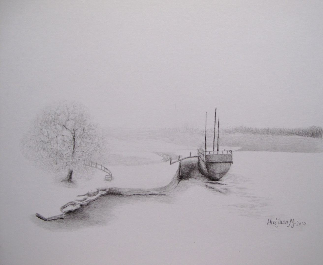 15,Winter 30x32 Pencil Drawing 2010