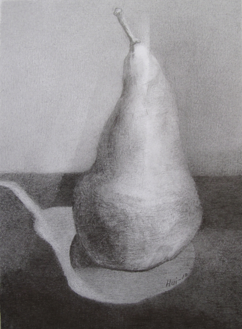 4,Pear 30x21 Pencil Drawing 2011