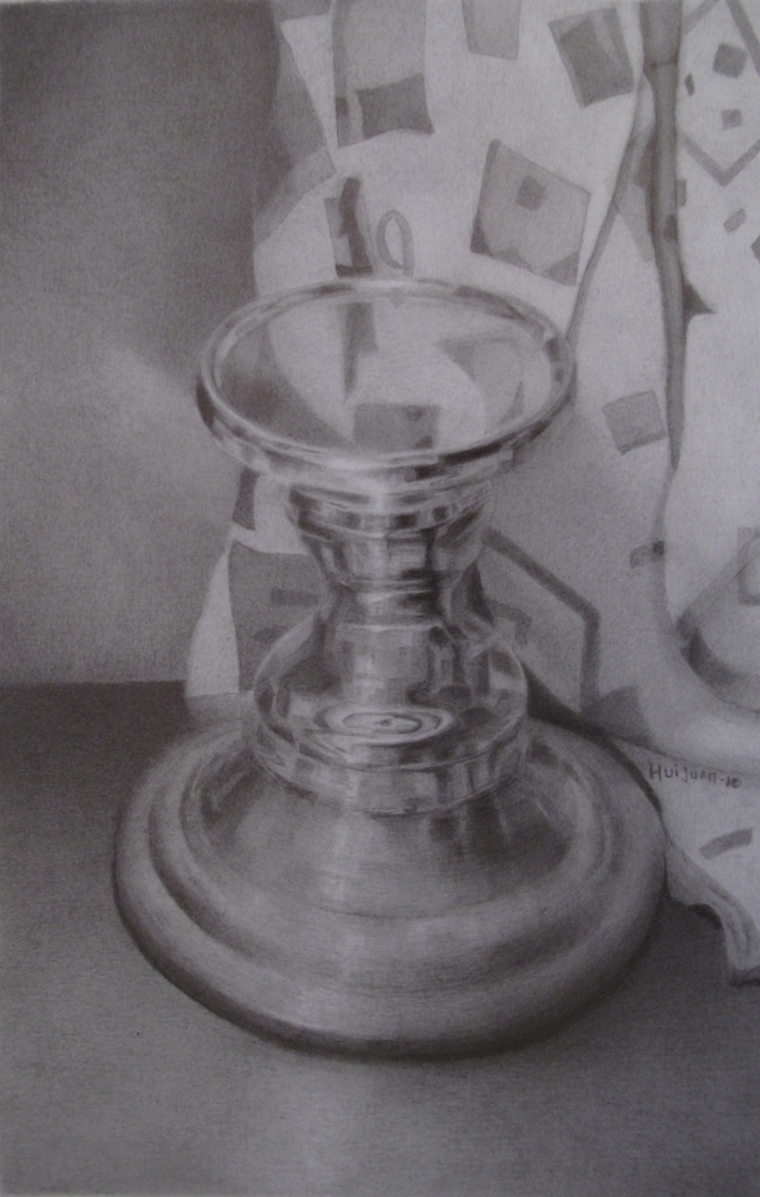 8,Stainless and Silk 34x28 Pencil Drawing 2010
