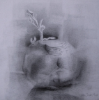 1,Back to the Root 发芽 - 30x30.2010,Pencil Drawing铅笔素描