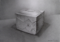 10,Pottery 陶艺盒.32x42.2010, Pencil Drawing 铅笔素描