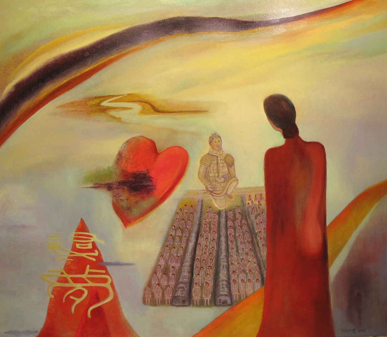 20, Dreaming 130x150 Oil on canvas 2007