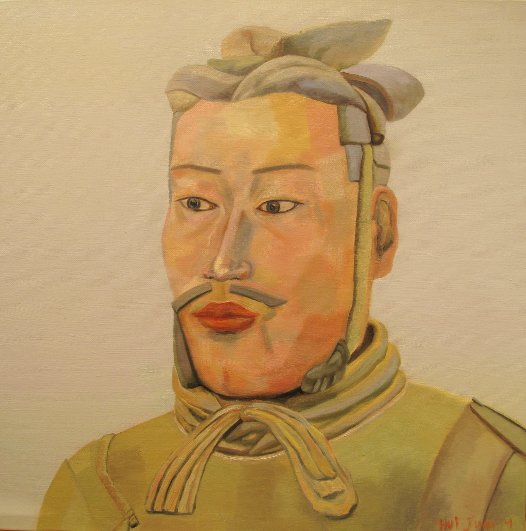 7,Warrior 50x50 Oil on canvas 2013