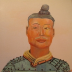 10,Warrior 兵俑50x50. 2013, Oil on canvas 麻布油画