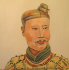 2,Warrior 兵俑50x50. 2013, Oil on canvas 麻布油画