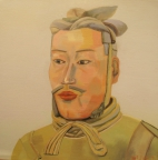 7,Warrior 兵俑50x50. 2013, Oil on canvas 麻布油画