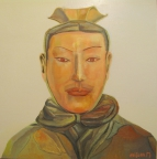 8,Warrior 兵俑50x50. 2013, Oil on canvas 麻布油画
